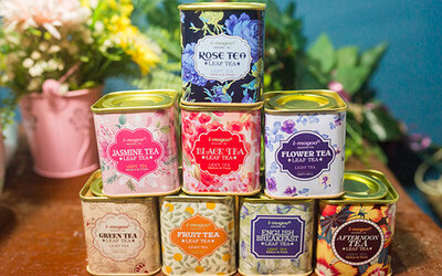 Twenty (20) Personalised Tea Tins with Choice of 4 Flavours