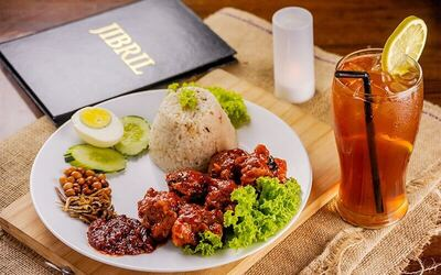 Nasi Lemak Butter Chicken + Ice Lemon Tea for 2 People