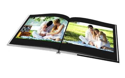 "8"" x 8"" Mini Square Imagewrap Hardcover Photobook, 40 Pages"