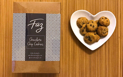 Four (4) Boxes of Chocolate Chip Cookies by Faz