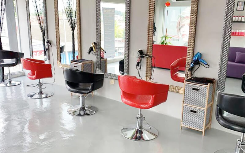(Short Hair) Hair Colouring with Hair Treatment, Wash, and Blow for 1 Person