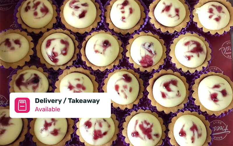 Free Delivery: One (1) Box of Blueberry Cheese Tart