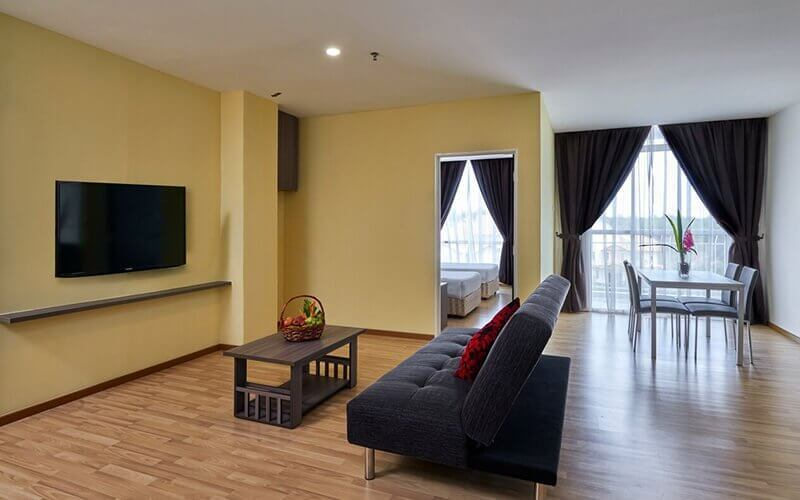 Melaka: 2D1N Stay in One Bedroom Apartment Twin with Breakfast at Hotel MetraSquare for 2 People