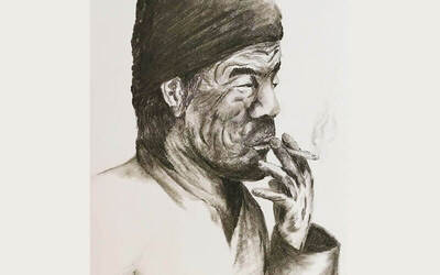 2-Hour Guided Charcoal Sketching Art Class with Free Flow Hot Drinks for 2 People