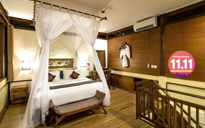[#FaveSebelas] Seminyak: 4D3N in One Bedroom Suite + Breakfast + Tea Time + Return Airport Transfer