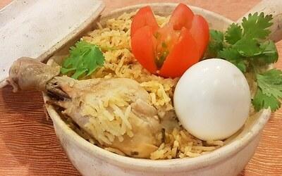 Chicken, Fish, or Lamb Briyani Set for 1 Person