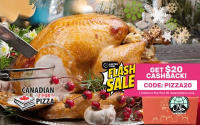 [Y.E.S Flash] Free Delivery: Canadian Pizza Freshly Roasted Turkey with stuffing Gift Box B