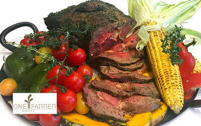 One (1) Traditional Roasted Ribeye with Home-Grown Farm Herbs (3kg)