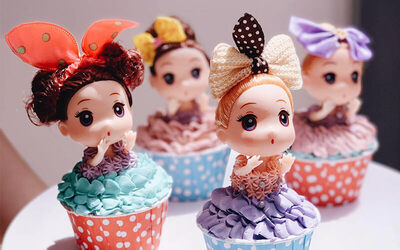 2-Hour Doll Cupcake Baking Workshop for 2 People