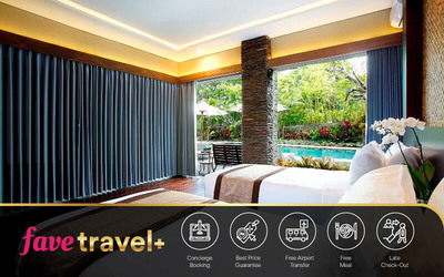 [FAVE Travel+] Jimbaran: 4D3N in Deluxe Suite Room + Breakfast + 1x Lunch / Dinner + One Way Airport Transfer