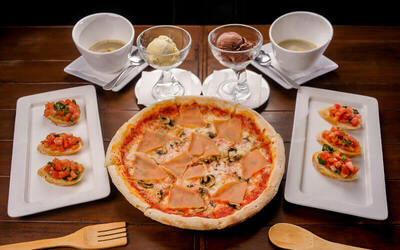 (Tue-Fri) Italian Lunch Set with Appetiser and Dessert for 2 People