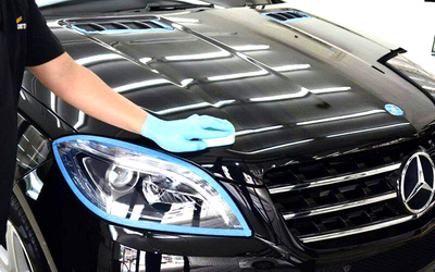 Nano Wax Coat with 17-Step Auto Detailing and Windscreen Treatment for 1 Car