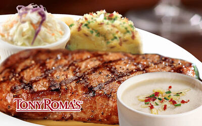 Tony Roma's New York Strip Steak (7oz) with Baked Potato Soup for 1 Person