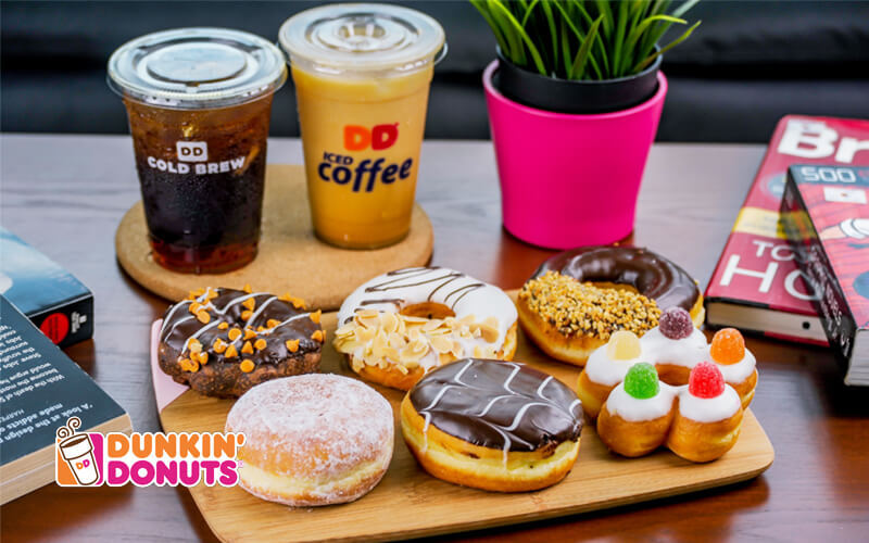 Half-Dozen Dunkin' Donuts with Two (2) Iced Coffee OR Cold Brew