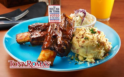 Tony Roma's Bountiful Beef Ribs with Baked Potato Soup for 1 Person