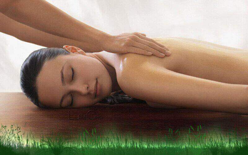 1 Hour Moxa Hot Back Massage Therapy with Foot Spa for 1 Person