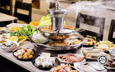 Steamboat and Grill Barbecue Buffet with Free Flow Drinks for 2 People
