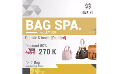 Detailed Bag Spa for 1 Leather Bag