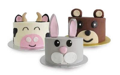 "One (1) 6"" 3D Animal Cake"