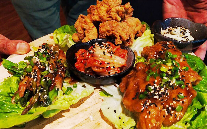 Korean Meal with Drinks for 4 People