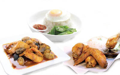 Seafood / Chicken Wings Lunch Set with Drink for 1 Person