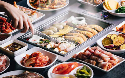 (Mon - Fri) Korean BBQ Lunch Buffet + Coke + Ice-cream for 1 Adult