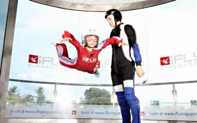 Singapore: (Sat - Sun) iFly Shiok Experience + Two (2) Rounds of Skydiving for  1 Person