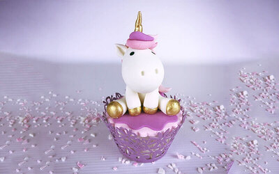 2.5-Hour Unicorn Cupcake Decorating Class for 1 Person