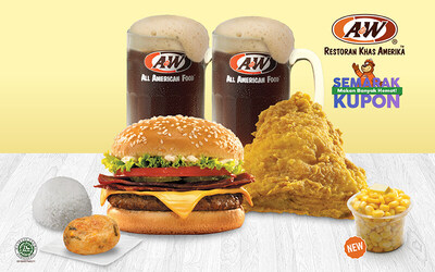 Oct Super Savers: Chicken & Deluxe Burger for 2 Persons (Golden / Spicy)