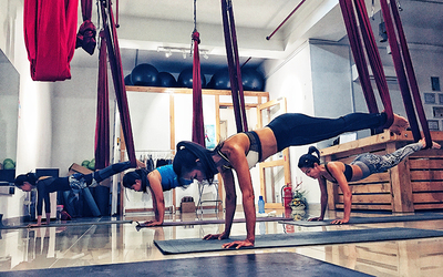 Aerial yoga / Airyoga Class for 2 People