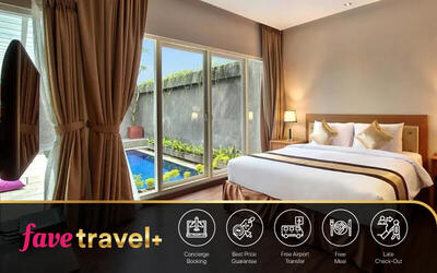 [FAVE Travel+] Nusa Dua: 5D4N in One Bedroom Private Pool + Breakfast + One Way Airport Transfer + 1x Lunch / Dinner