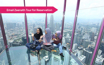 Admission to KL Tower Sky Box, Sky Deck, and Observation Deck Admission for 1 Adult (Non-MyKad Holder)