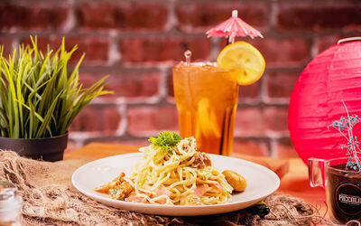 Pasta Sensation with Iced Lemon Tea for 1 Person