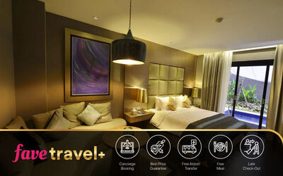 [Fave Travel+] Nusa Dua: 5D4N in Private Pool Suite Room + Breakfast + One Way Airport Transfer + Lunch or Dinner - FS