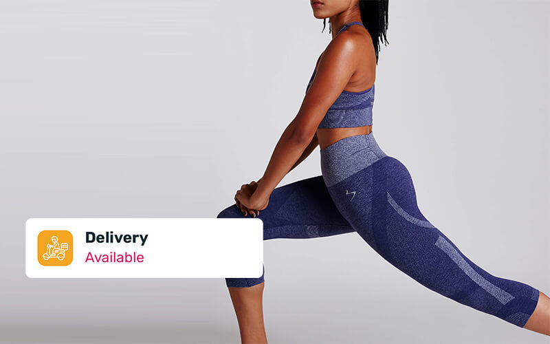 Free Delivery: Two (2) Beachbody Gear Intent Compress Crop Tight