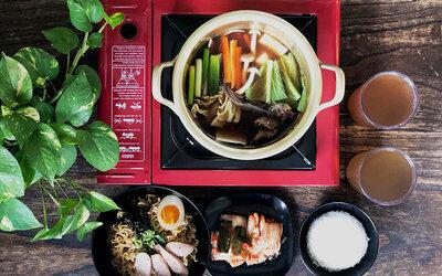 Paket Makan Jjigae dan Ramyun untuk 3 Orang