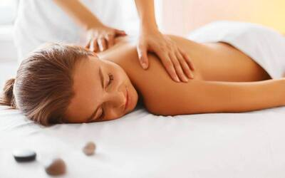 2-Hour Lymphatic Massage + Herbal Foot Spa + Body Scrub for 1 Person
