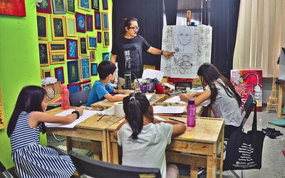 2-Hour Basic Fine Art Class For 3 Kids (1 Session)