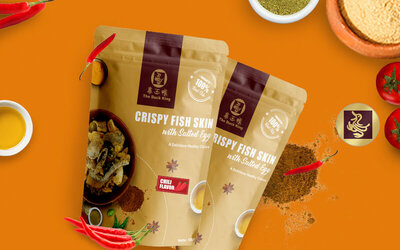2 Packs Crispy Fish Skin with Salted Egg (Original / Spicy)