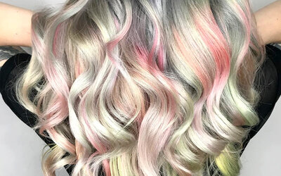 Hair coloring + Highlight + Bleaching + Blow Style