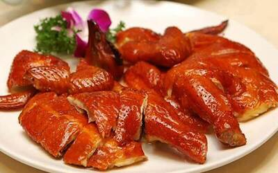 8-Course Cantonese Meal with Crispy Pork Belly, Sliced Fish and Salt-Baked Chicken for 6 People