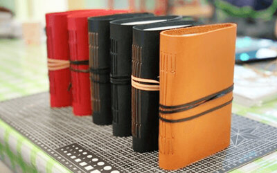 3-Hour Leather Book Binding and Pyrography Art Workshop for 1 Person