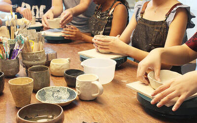 1.5-Hour Pottery Class for 1 Person