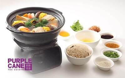Purple Cane Restaurant: RM60 Cash Voucher for Healthy Tea-Infused Cuisine