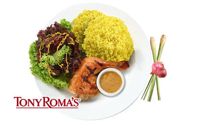 [Fave Exclusive] Tony Roma's JamuSelera Sensational Serai BBQ Quarter Chicken Meal for 1 Person