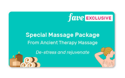 (5-session PACKAGE) 1-Hour Full Body Massage and 30-Minute Foot Reflexology for 1 Person