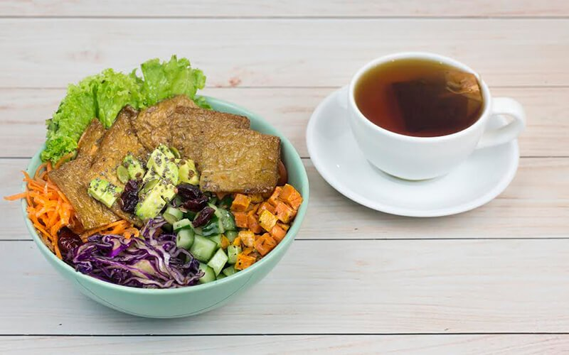 Lean and Lush Sandwich / Bowl Set Meal with Coffee / Tea for 1 Person