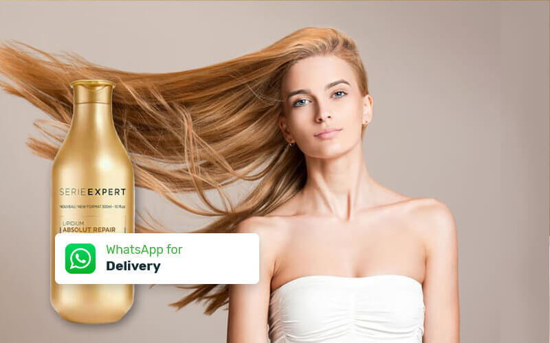 Free Delivery - L'Oreal Series Expert Shampoo Absolute Repair 300 ml + Free Voucher Hair Wash & Blow Dry by Haircode (6 Pcs)