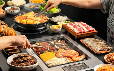 (Mon - Fri) Korean BBQ and Army Stew Lunch Buffet + Coke for 1 Adult