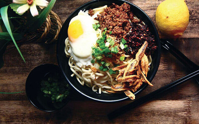 Signature Pan Mee Set with Snacks and Drinks for 2 People